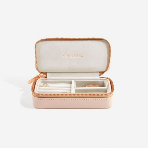 Stackers Medium Travel Jewellery Box-Blush