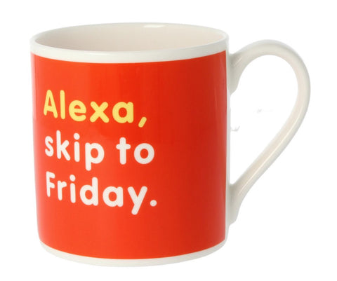 MCL Snap To Grid Mug-Alexa, Skip To Friday Mug