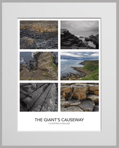 PRM Mounted Photo Print-Giant's Causeway Montage