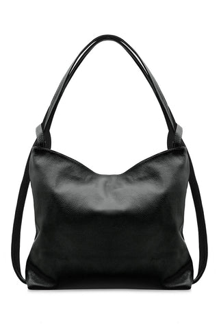Italian Leather Handbag/Back Pack-Blk