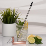 UBS Travel Stainless Steel Straw-Rose Gold