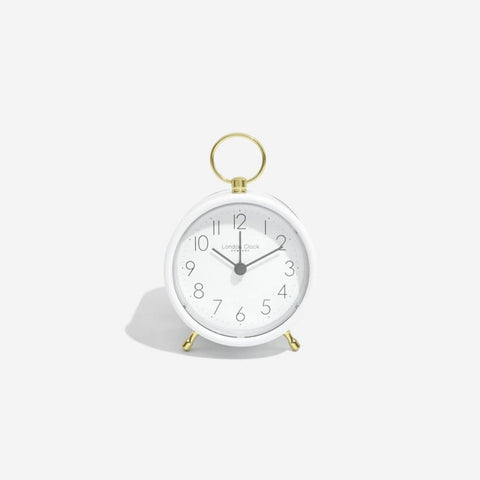 London Clock Hoop White Alarm Clock