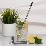 UBS Travel Stainless Steel Straw-Space Grey