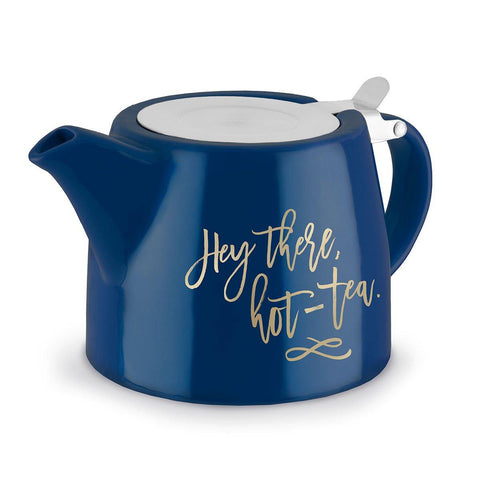 UBS Harper Hey There, Hot-Tea Ceramic Teapot and Infuser