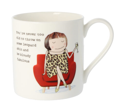 MCL Rosie Made A Thing Mug-Bloody Fabulous Leopard Print