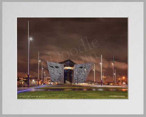 PRM Mounted Photo Print-Titanic By Night