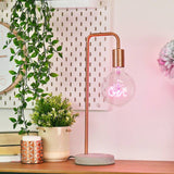 STP GIN LED filament Text Light Bulb-PINK