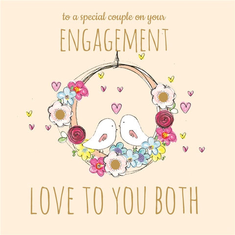 Laura Sherratt Engagement Love To You Both Card