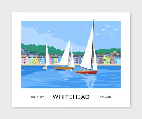 James Kelly Print-Whitehead Seafront