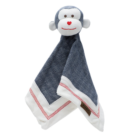 KC Organic Cottage - Lovey Monkey- Lake Blue
