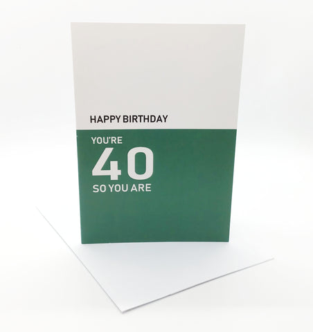 Belfast Times 40 So You Are Card