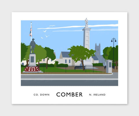 James Kelly Print-Comber Town Square