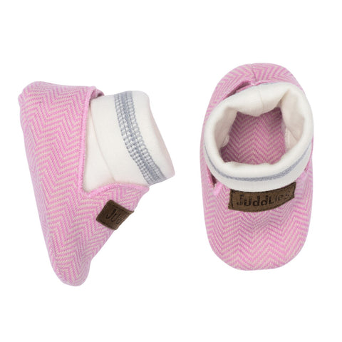 KC Organic Cottage Baby Slippers - Sunset Pink - 0-4M
