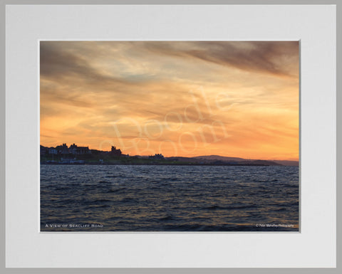 PRM Mounted Photo Print-Seacliff Road, Bangor