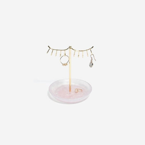 Stackers Rose Quartz 10-Hook Eyelash Jewellery Stand