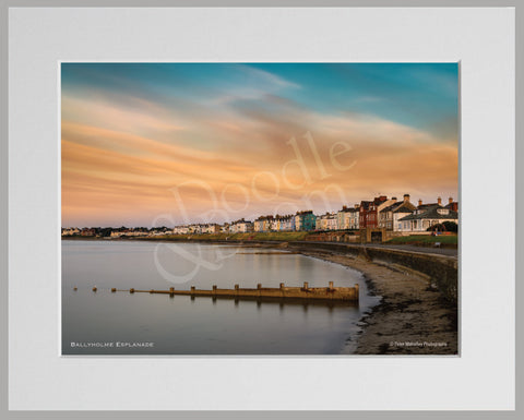 PRM Mounted Photo Print-Ballyholme Esplanade