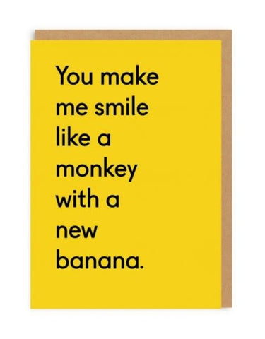 OD Monkey With A New Banana Card