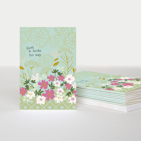 CG Notecard Pack - Kimono Floral A Little Note To Say