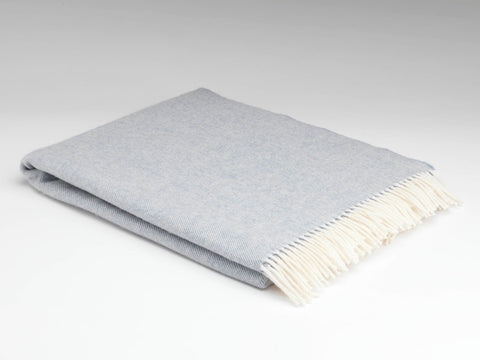 McNutt Lambswool Throw - Supersoft Smoke Herringbone