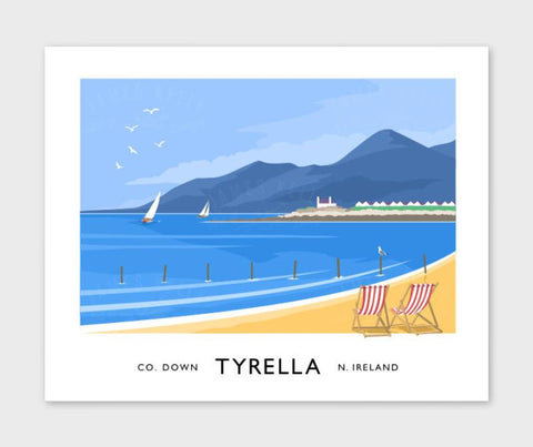 James Kelly Print - Tyrella Beach