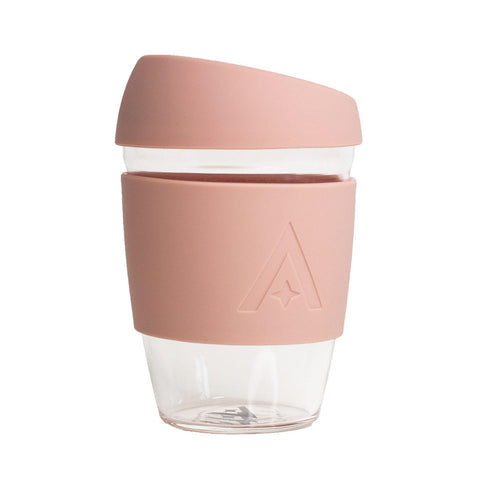 UBS Reusable Glass Travel Cup - Blush Pink