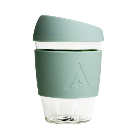 UBS Reusable Glass Travel Cup - Sage Green