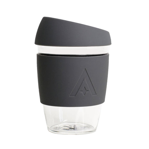 UBS Reusable Glass Travel Cup - Space Grey