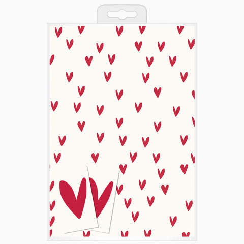 CG Red Heart Design Gift Wrap Pack