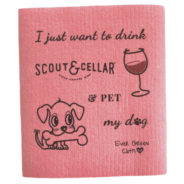 Drink Scout & Cellar & Pet My Dog - (Pack of 3 cloths)