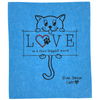 Large Kitty LOVE - Sponge Cloth (One)