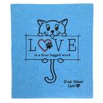 Swedish Dishcloth - Cat Love Ever Green Sponge Cloth