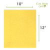 Ever Green Cloth - Yellow Large Sponge Cloth Measurements