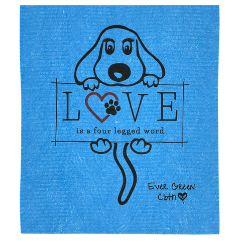 Large Puppy LOVE - Sponge Cloth (One)