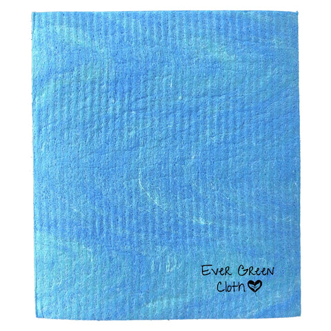 Swedish Dishcloth - Blue Ever Green Sponge Cloth