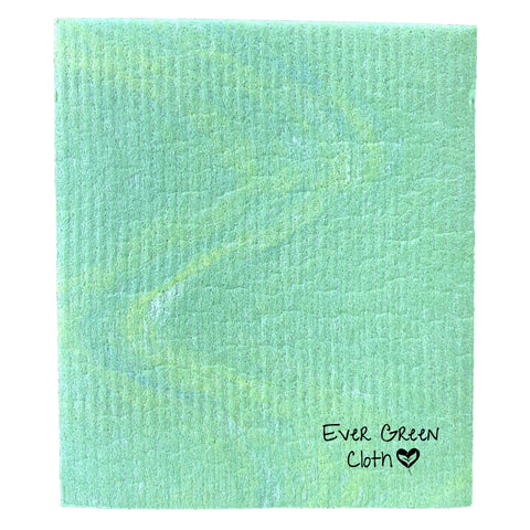 Swedish Dishcloth - Green Ever Green Sponge Cloth