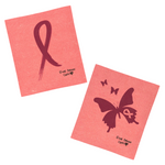 Breast Cancer Awareness Pink Ribbon Sponge Cloth - (Pack of 2 cloths)