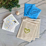 Ecosystem Bundle Bundle - Ever Green Sponge Cloth - Beech Wood Scrub Brush - 100% Natural Cotton Mesh Bag