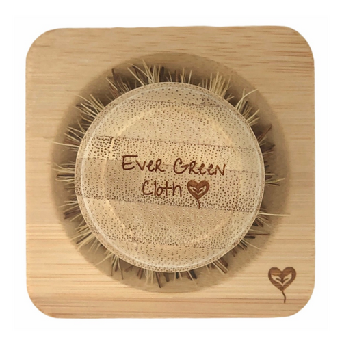 Bamboo Scrub Brush & Dish Set