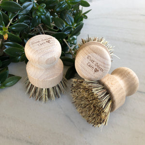 Beech Wood Scrub Brush - Ever Green Cloth