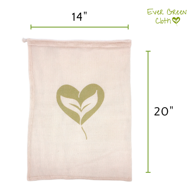 Cotton Mesh Bag - LARGE (Set of 3 Bags)