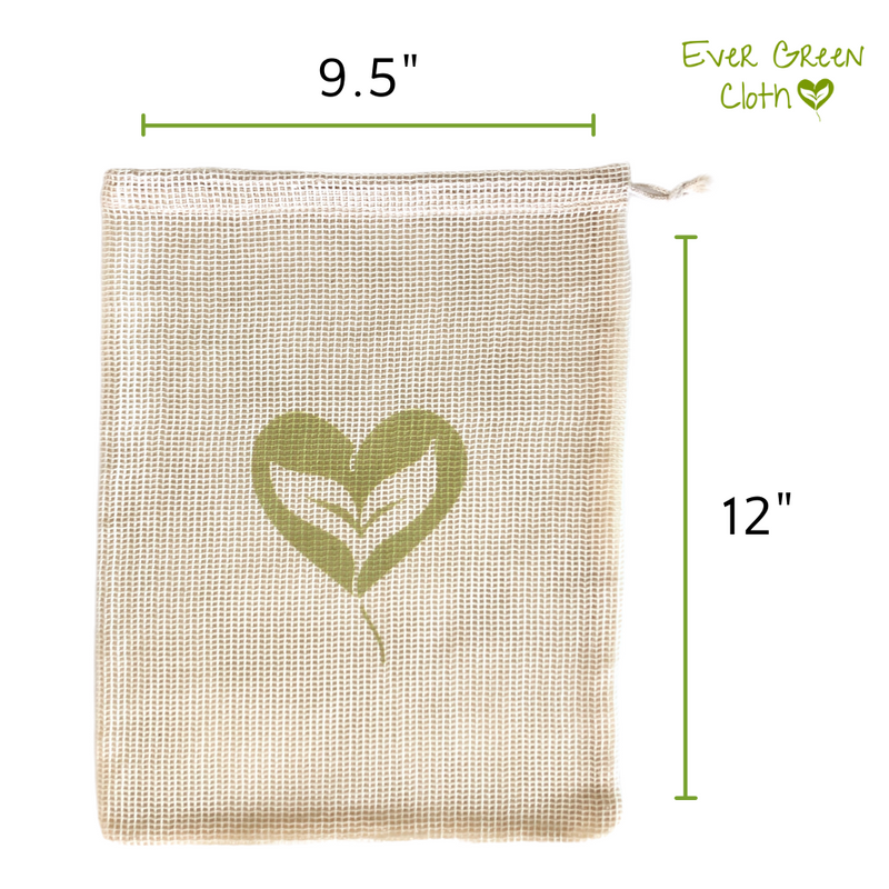Cotton Mesh Bag - REGULAR (Set of 3 Bags) - Dog Bone