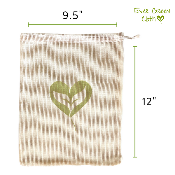 Cotton Mesh Bag (Set of 3 Bags) - Dog Bone