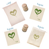 Ever Green Bundle: 2 Regular Sponge Cloths, 1 Regular + 1 Large Cotton Mesh Bags, 2 Beech Wood Scrub Brushes