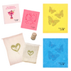 Mother's Day Bundle: 2 Regular + 2 Large Sponge Cloths, 1 Regular + 1 Large Cotton Mesh Bags, 1 Beech Wood Scrub Brush