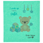 Swedish Dishcloth - Baby Talk  Ever Green Sponge Cloth