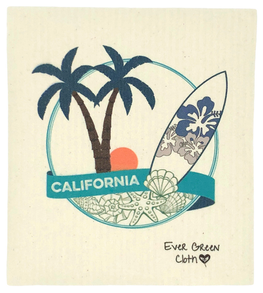 California Surf Sponge Cloth (One)