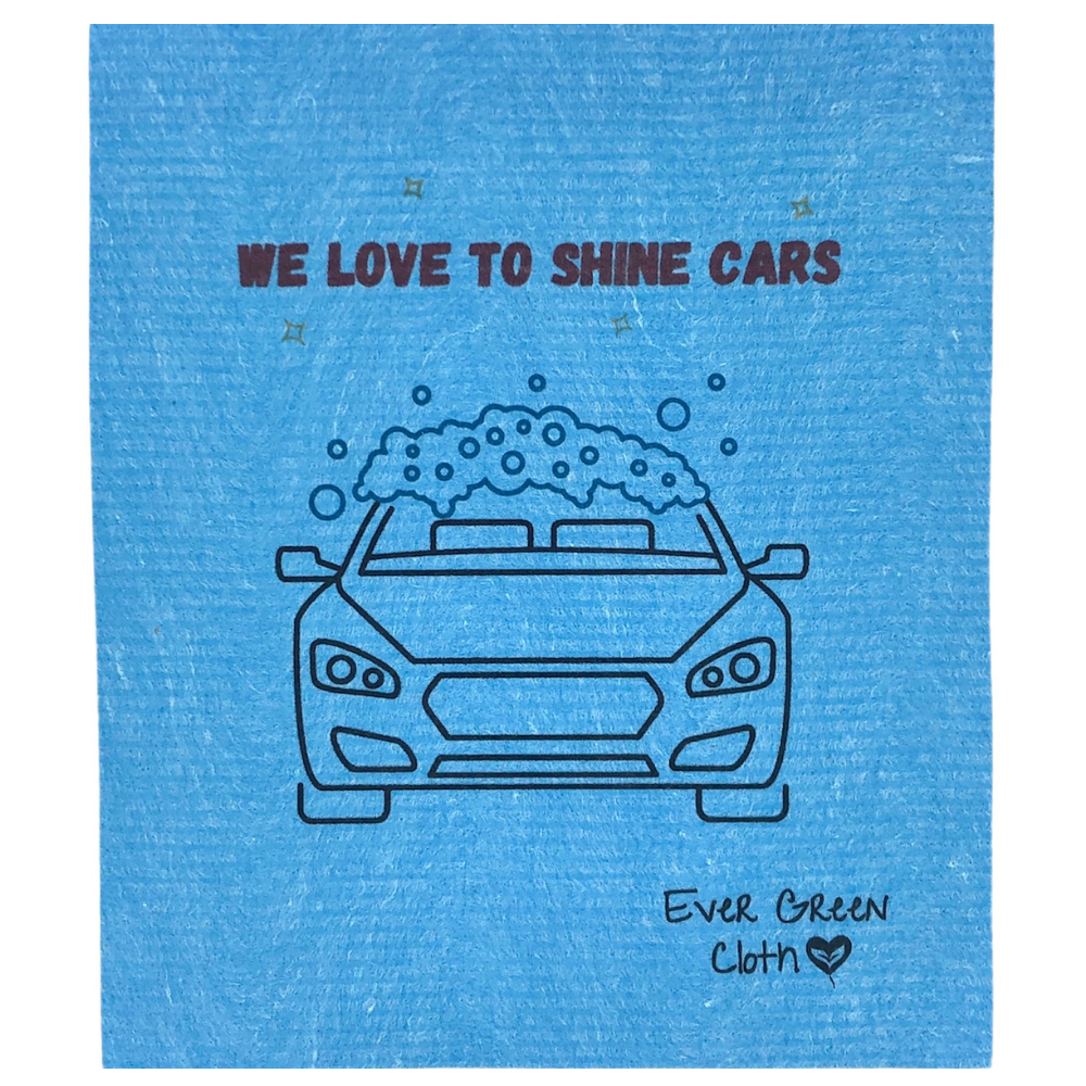 Ever Green Cloth - Large Sponge Cloth Car Wash Print