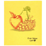 Ever Green Cloth - Large Sponge Cloth Fruit Print