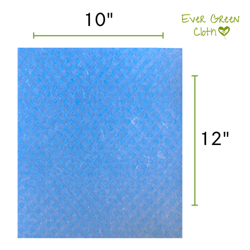 Ever Green Cloth - Blue Large Sponge Cloth Measurements