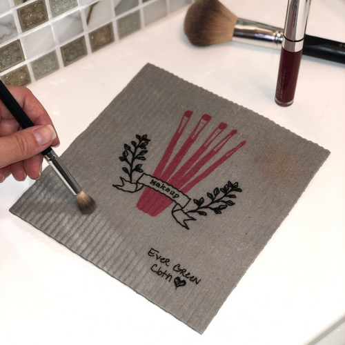 Large Makeup Brushes - Sponge Cloth (One)